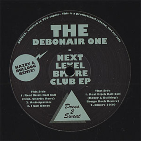 Debonair One, The (Debonair Samir) - Next level Bmore club EP