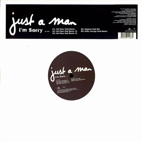 Just A Man - I'm sorry