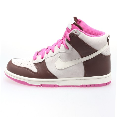 on sale 83aec 383e2 Nike. Women Dunk high (White   Sail   Light Chocolate   Pink Fire)