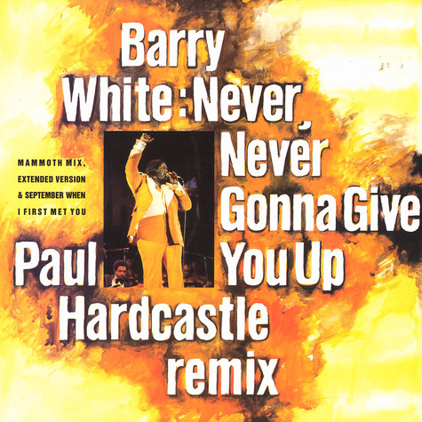 Barry White - Never, never gonna give you up (Paul Hardcastle remix)