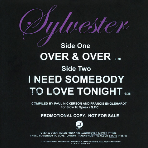 Sylvester - Over & Over