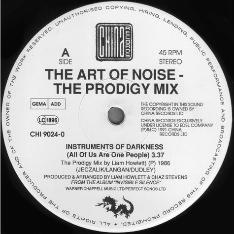 Art Of Noise - Indstruments of darkness (Prodigy remix )