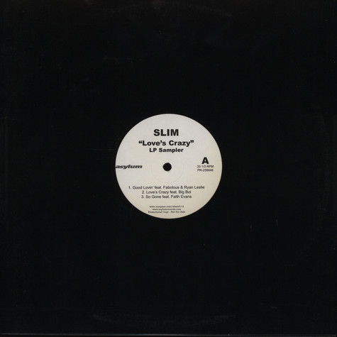 Slim - Love's crazy LP sampler