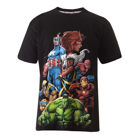 New Era x Marvel - Captain America strong tower T-Shirt