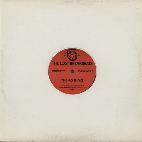 45 King - Lost Breakbeats - The Red Album