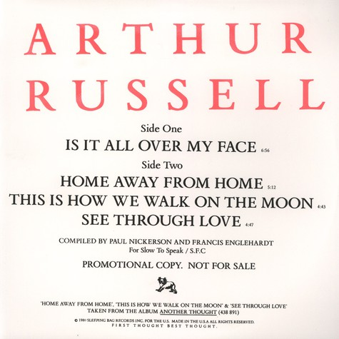 Arthur Russell - Is It All Over My Face