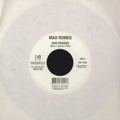 Max Romeo / Prince Jazzbo  - Give Praises / Live Good Today