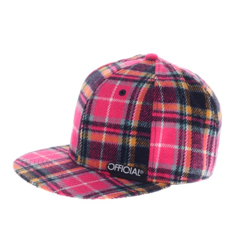 Official - Fuscia Plaid Fitted Hat