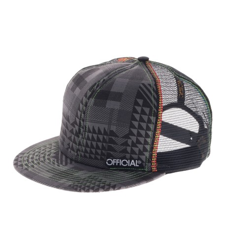 Official - Grey Pattern Snap Back Cap