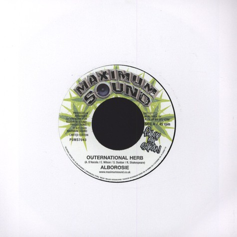 Alborosie / Sly & Robbie - Outernational Herb /  I Know My Herbs