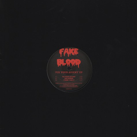Fake Blood - Fix Your Accent EP