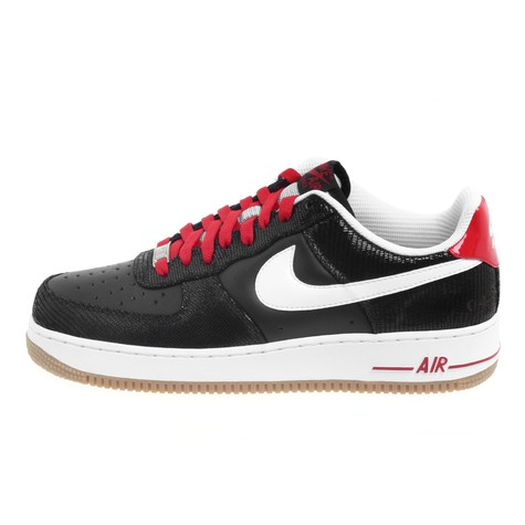 separation shoes b4a4b 5402a Nike. Air Force 1 Low Premium (Black   White Varsity Red)