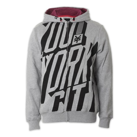 Zoo York - We Bold Striped Zip-Up Hoodie