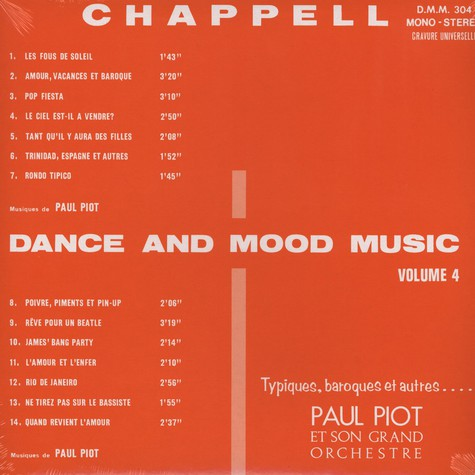 Paul Piot Et Son Grand Orchestre - Dance and Mood Music Volume 4