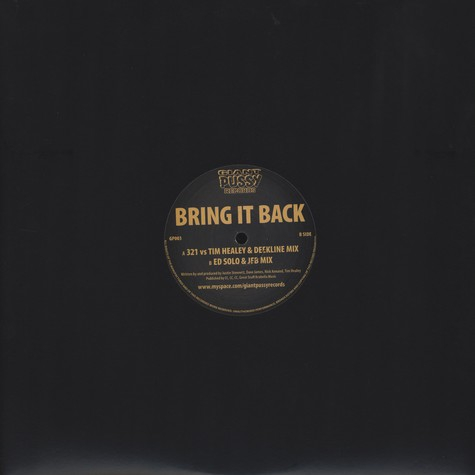 321 VS Tim Healy & Deekline - Bring It Back