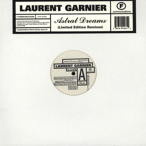 Laurent Garnier - Astral Dreams remixes