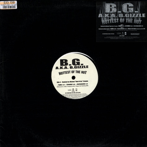 B.G. aka B.Gizzle - Hottest Of The Hot