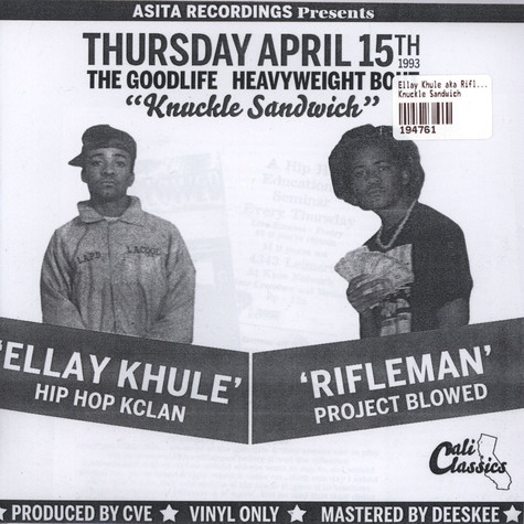 Ellay Khule aka Rifleman - Knuckle Sandwich
