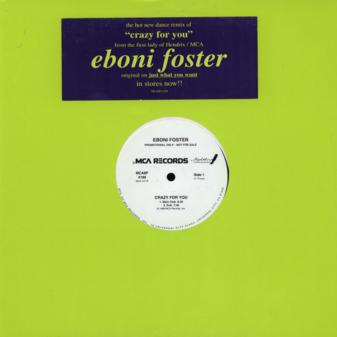 Eboni Foster - Crazy For You