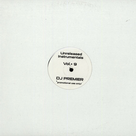 DJ Premier - Unreleased Instrumentals Volume 9