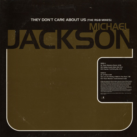 Michael Jackson - They Don't Care About Us (The R&B Mixes)