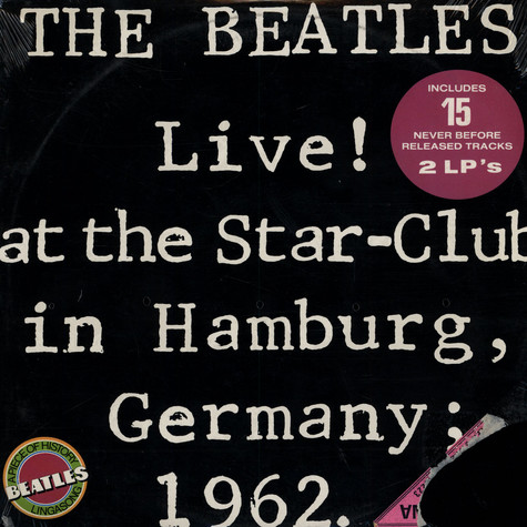 Beatles, The - Live! At The Star-Club In Hamburg, Germany; 1962.