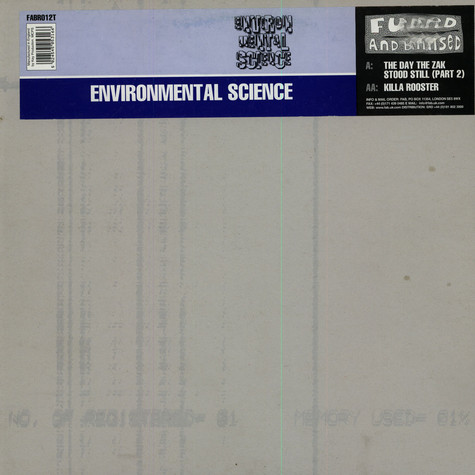 Environmental Science - The Day The Zak Stood Still EP