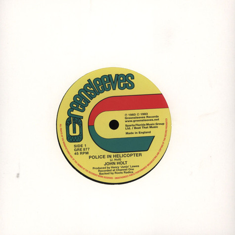 John Holt / Barrington Levy - Police In Helicopter / Don't Fuss Nor Fight