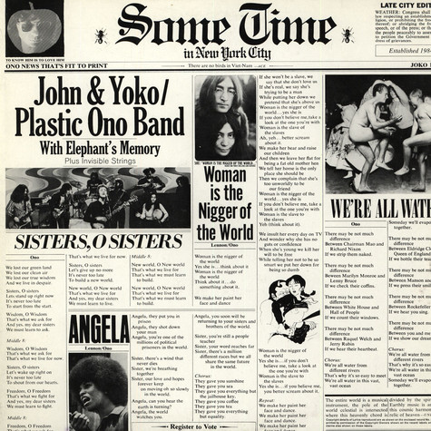John & Yoko / Plastic Ono Band - Some Time In New York City