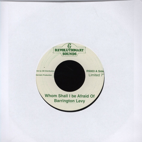 Barrington Levy - Whom Shall I Be Afraid Of