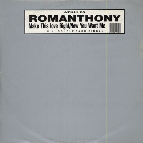 Romanthony - Make This Love Right