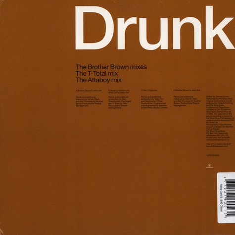 Pet Shop Boys - You Only Tell Me You Love Me When You're Drunk