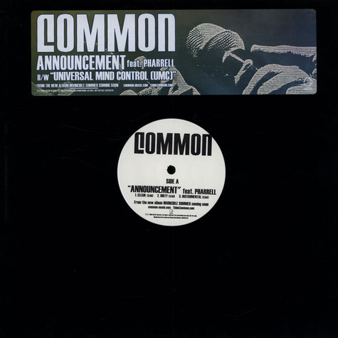 Common - Announcement