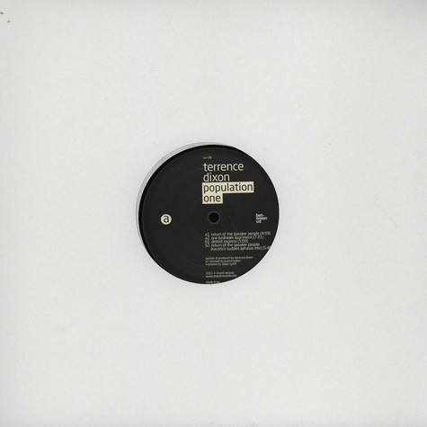Population One (Terrence Dixon) - EP