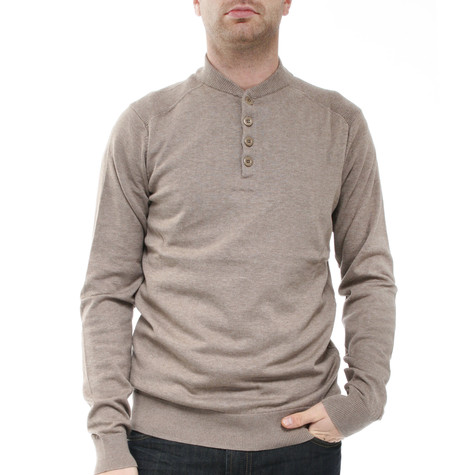 Ben Sherman - LS Y Neck Henley Knit Sweater