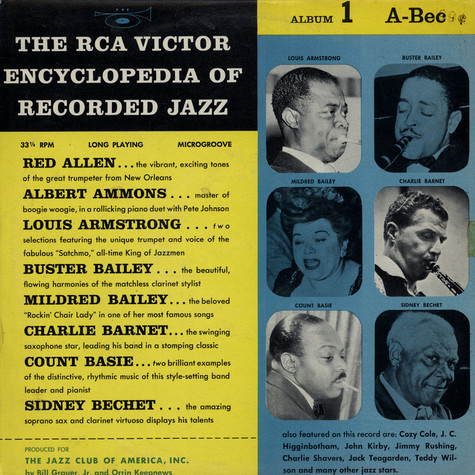 V.A. - The RCA Victor Encyclopedia Of Record Jazz - Album 1 - A-Bec