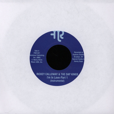Rickey Calloway & Dap-Kings - I'm In Love Instrumental Parts 1 & 2