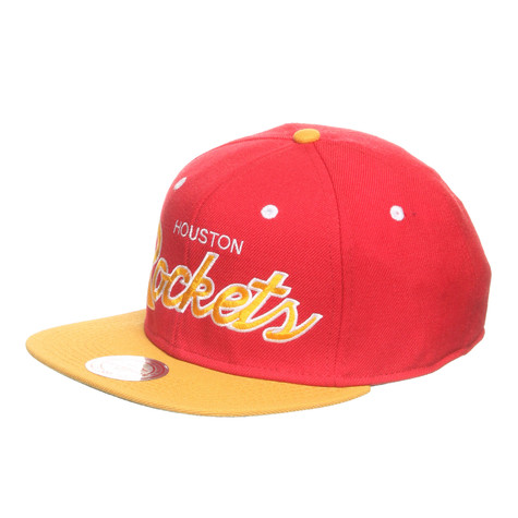 Mitchell & Ness - Houston Rockets NBA 2 Tone Script Snapback Cap