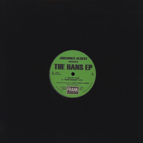 Johannes Albert - The H.A.N.S. EP