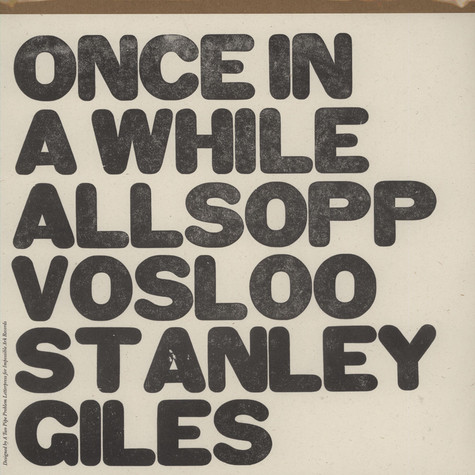 Allsop, Stanley, Vosloo, Giles - Once In A While