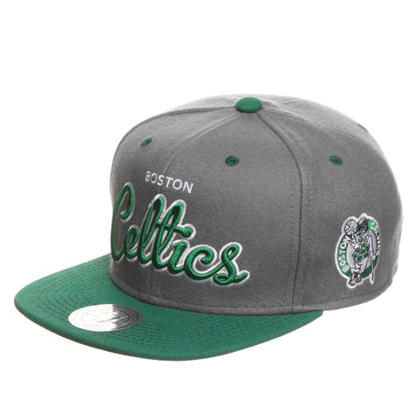 Mitchell & Ness - Boston Celtics NBA Melton Script Snapback Cap