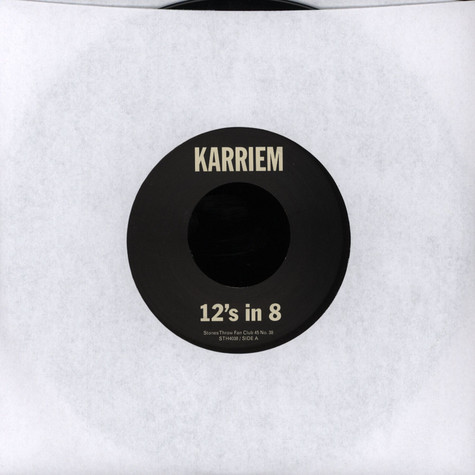Karriem Riggins - 12s in 8 / Analog Days