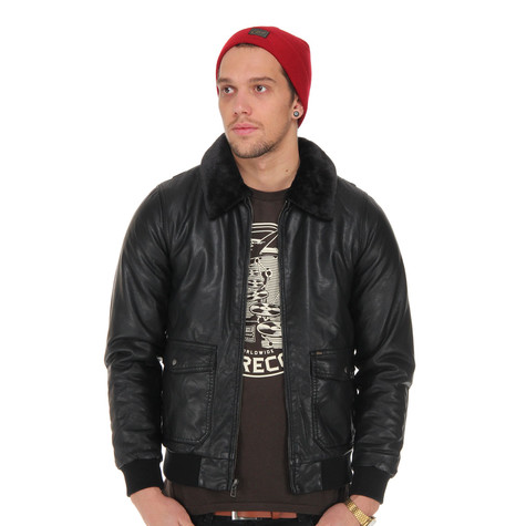 Obey - Downtown Bomber Faux Leather Jacket