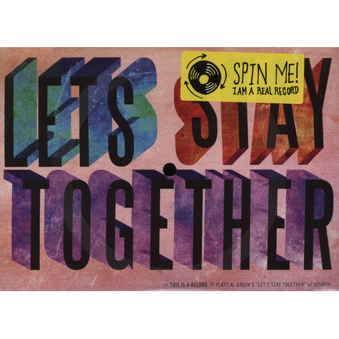 Al Green - Let's Stay Together Vinyl Postcard