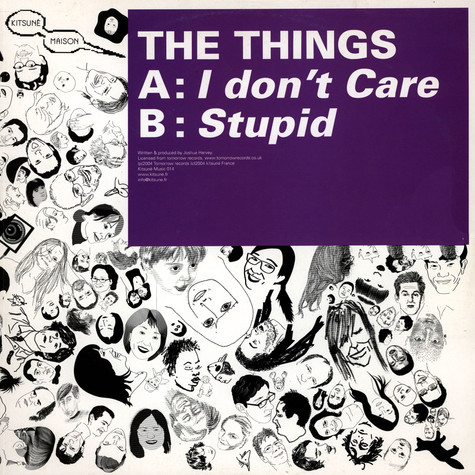 Things, The - I Don't Care / Stupid