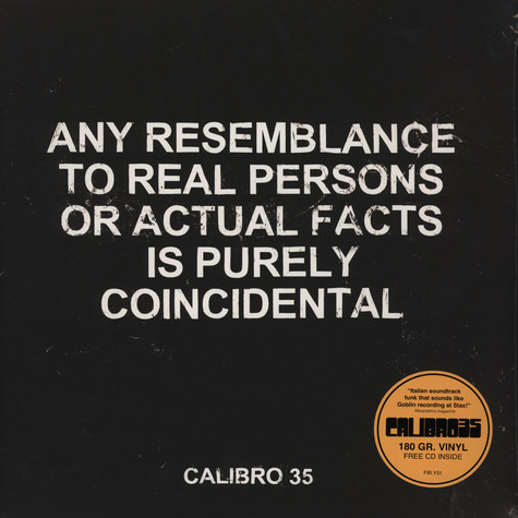 Calibro 35 - Any Resemblance To Real Persons Or...