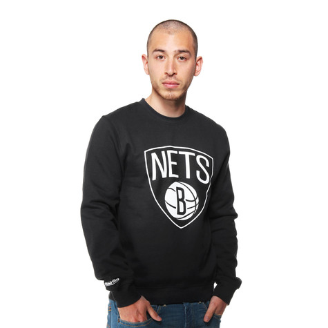 Mitchell & Ness - Brooklyn Nets Core Logo Crew Sweater