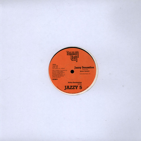 Afrika Bambaataa & The Jazzy 5 / Kryptic Krew, The featuring Tina B - Jazzy Sensation