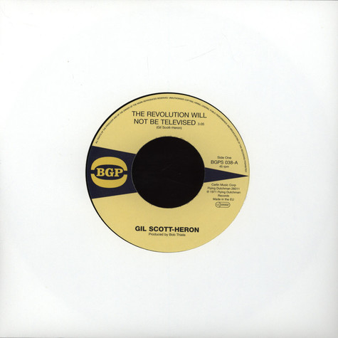 Gil Scott-Heron - The Revolution Will Not Be Televised / Home Is Where The Hatred Is