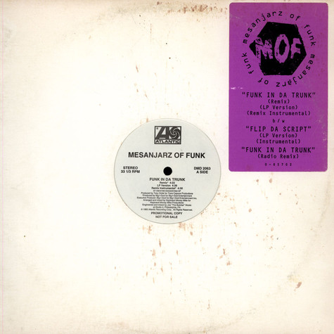 Mesanjarz Of Funk - Funk In Da Trunk / Flip Da Script feat. Lord Finesse & L Boogie